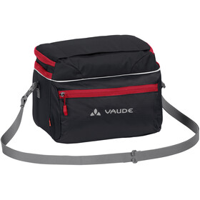 VAUDE Road II Bolsa de manillar, black/red